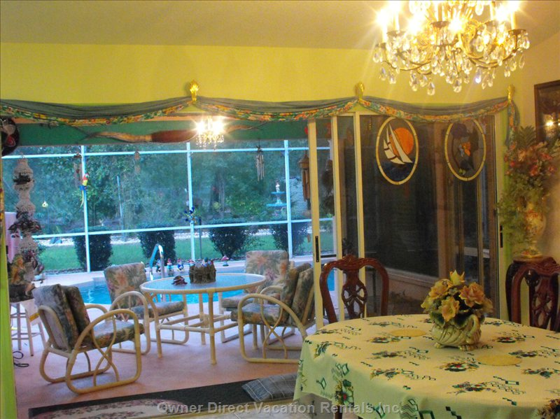 Dining Area Looking out to  Pool