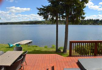 Amazing Modern Lakefront Home on Deka Lake with Private Dock and Hot Tub.