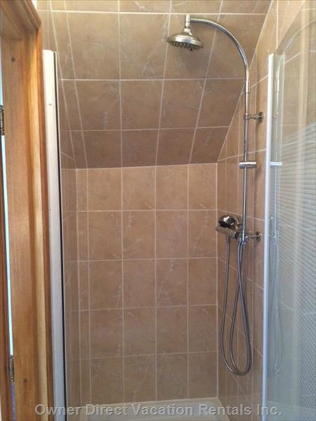 Ensuite Shower: Blue Guest Room