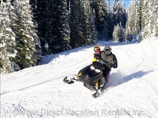 Snowmobiling on one of the many Trails at the Star