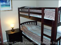 Fourth Bedroom has Two Bunk Beds