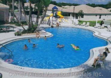 Main Pool and Club Area - a Sauna and Kiddie Pool Are Available