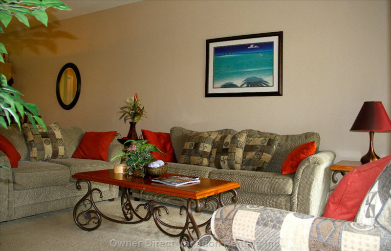 Living Area - the Living Space for Relaxing, Entertainment Or Reading a Good Book