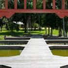 The Gazebo - a View of the Boardwalk from the Gazebo over the Lake.