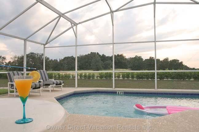 Large South Facing Pool with no Rear Neighbors for Privacy