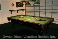 Amazing Games Room with 8' Pool Table, Internet Pc and Darts