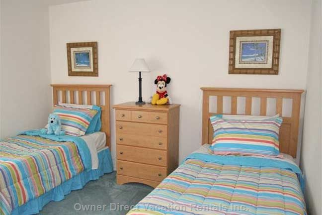 Bedroom has Two Twin Beds, Cable TV and Nintendo