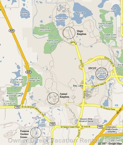 Location Map - Close to Disney