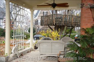 Large Porch with Fan to Enjoy a Book Or a Simple Cup of Coffee