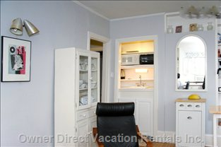View of the Kitchenette Situated in the Living Room