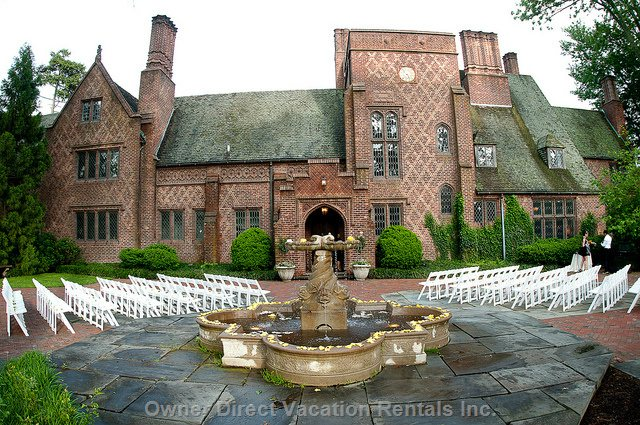 Aldie Mansion (Will & Martha Mercer) Gargoyles, Intricate Brickwork, Vintage Leaded Glass, Antique Tiles and Charming Garden Ornaments.