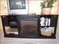 Electric Fireplace,TV, Stereo and VCR