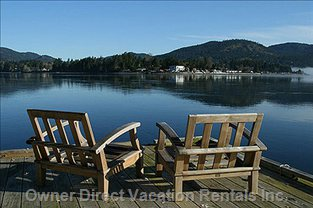 View of Sooke Basin and Sooke Hills from Private Dock
