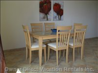 Dining Area - you Will Find all Facilities in the Aparment for Self Catering - Similar to, but May Not be Exact Unit.