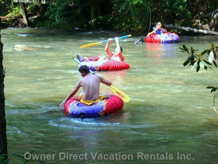 Tubing down one of the Nearby Rivers