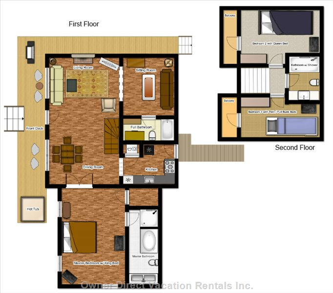 Floor Plan at Bearadise Retreat