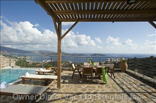 Terrace with View over Mirabello Bay