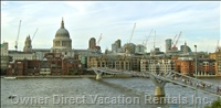 St Pauls Cathedral - View from Millenium Bridge