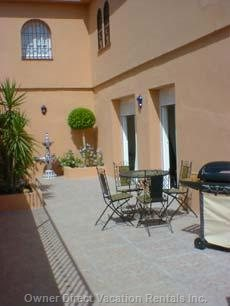 Main Terrace with Spanish Fountain & Gas Bbq