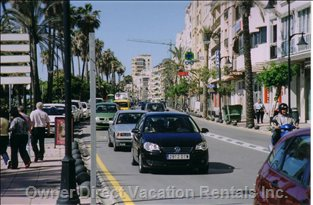 Avenida DE Espana, Estepona - the Avenida DE Espana is Immediately Adjacent to the Seaside Paseo