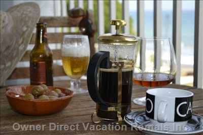 Enjoy a Mid Morning Coffee with Brandy Or Sun-Downers on the Seaview Balcony!