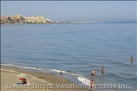 Quiet Sandy Beach a Stone's Throw from the Property with Views Toward to Marina, Gibraltar and the African Coastline!
