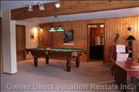 Games Room with Pool Table and Board Games