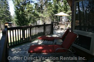Soak up the Sun and Relax on the West Facing Deck