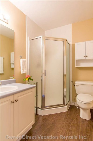 Master Bath. Plenty of Storage Room to Organize yourself during your Stay and Make it Feel like Home While you are Here.