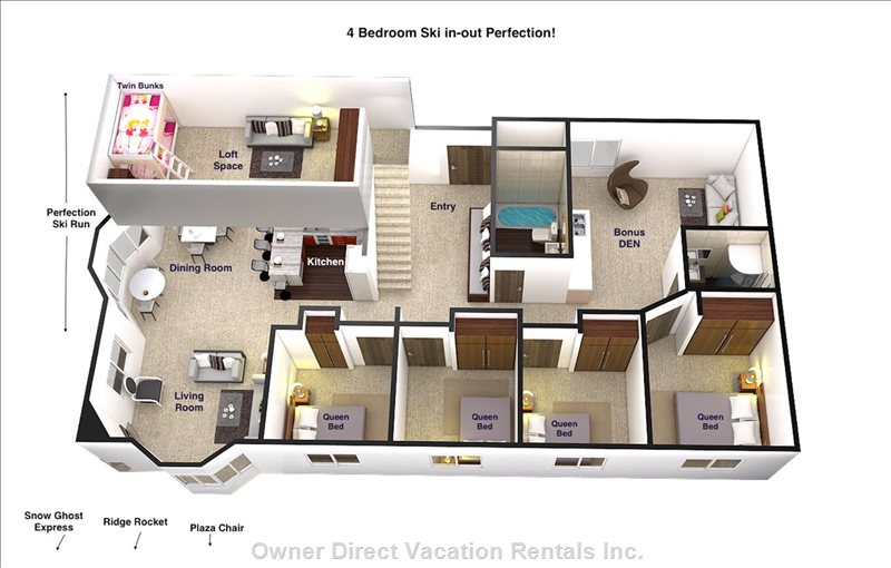 It's Nice to See the Actual Layout of the Place...As you Can See..Plenty of Living Space.