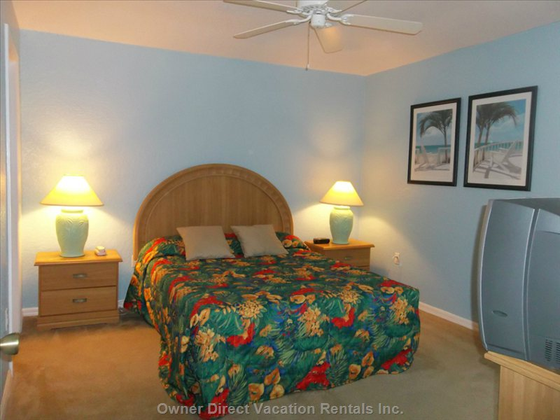 Queen Master Suite #2 with En-Suite Bath over Sized Walk in Closet. This Room has Beautiful Views of the Pond and the Gorgeous Sunsets.