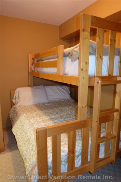 Second Bedroom with Double Lower / Single Upper Bunk