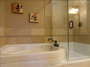Sweet Ensuite! - Decadent Ensuite Bathroom with Soaker and Glass Shower