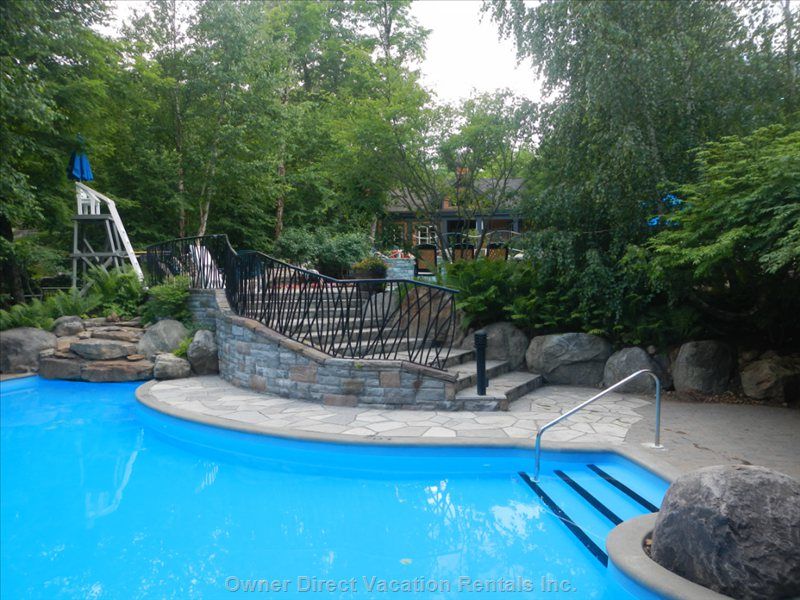 Three-Tier Heated Pool for Summer Guests