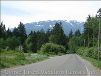 Ships Point Road with Arrowsmith Mountain Range in Backdrop