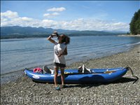 20 Minute Kayak Ride across to the Sandy Beaches of Denman Island!