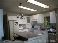 Kitchen is Open to Living Area; Enjoy Ocean Views. Fridge, Stove, Built-in Dishwasher, Microwave; Fully-Equipped.