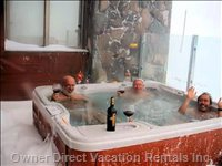 Enjoy a Jacuzzi, Even in a Snow Storm.