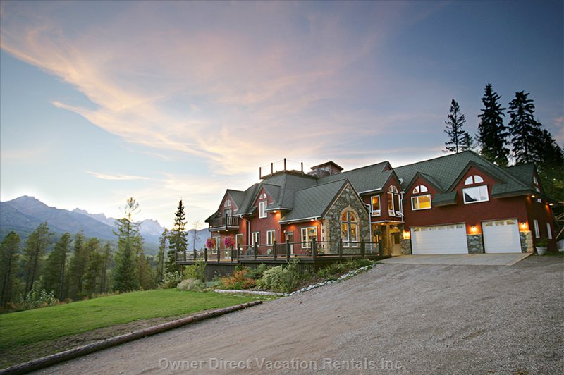 The Lodge is Set in its Own 10 Acres at the Edge of Fernie with 9,500 Sq Ft of Indoor Space.