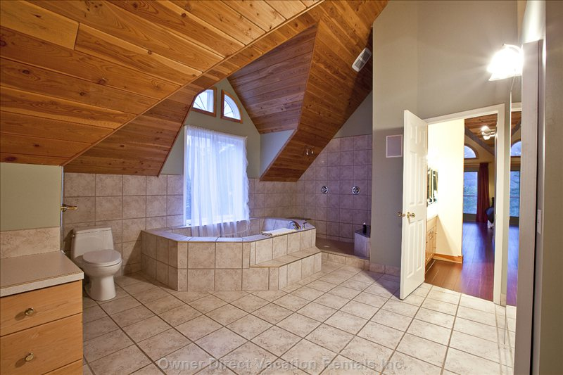 Elk View Ensuite - Double Sinks, Shower and Tub. Large Walk-in Closet.