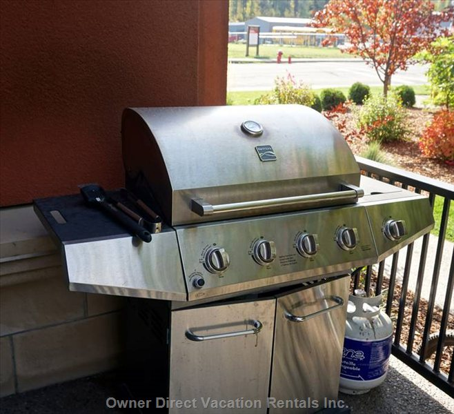 Gas Bbq on Private Patio