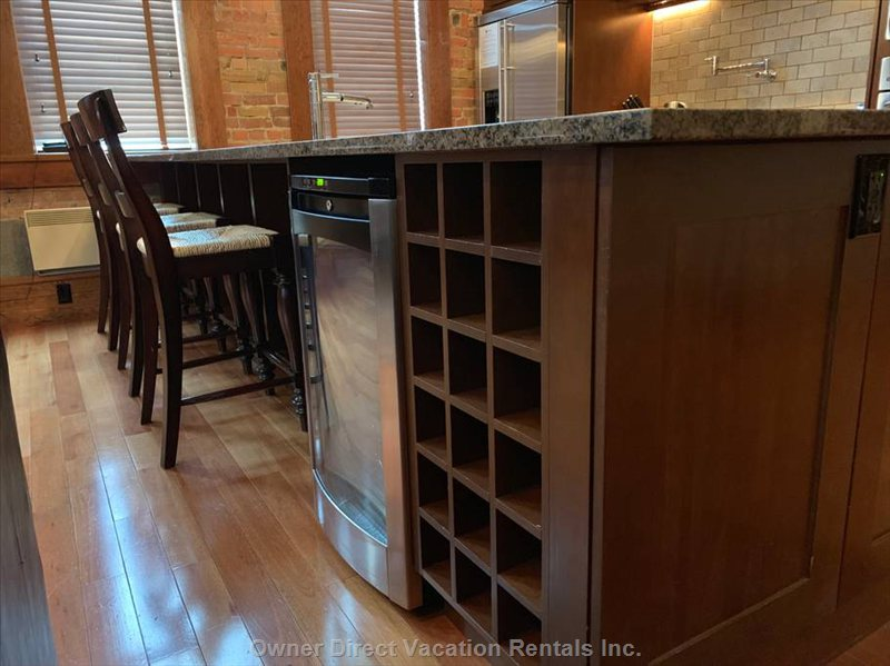Wine Fridge and Rack