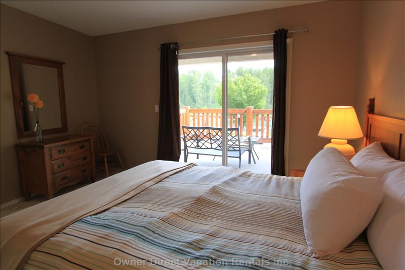 2nd Bedroom - Queen with Shared Ensuite and Private Balcony. Upper Level