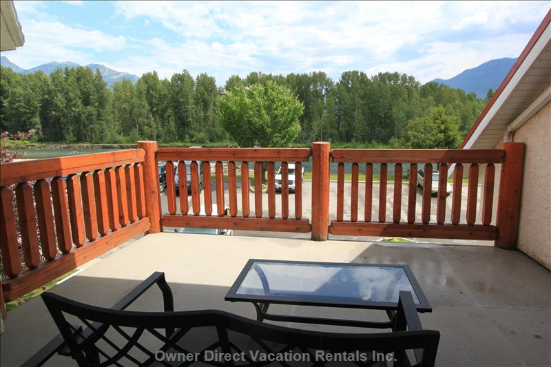 View of the Elk River from your Private Balcony