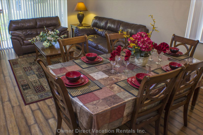The Family Room and Formal Dining