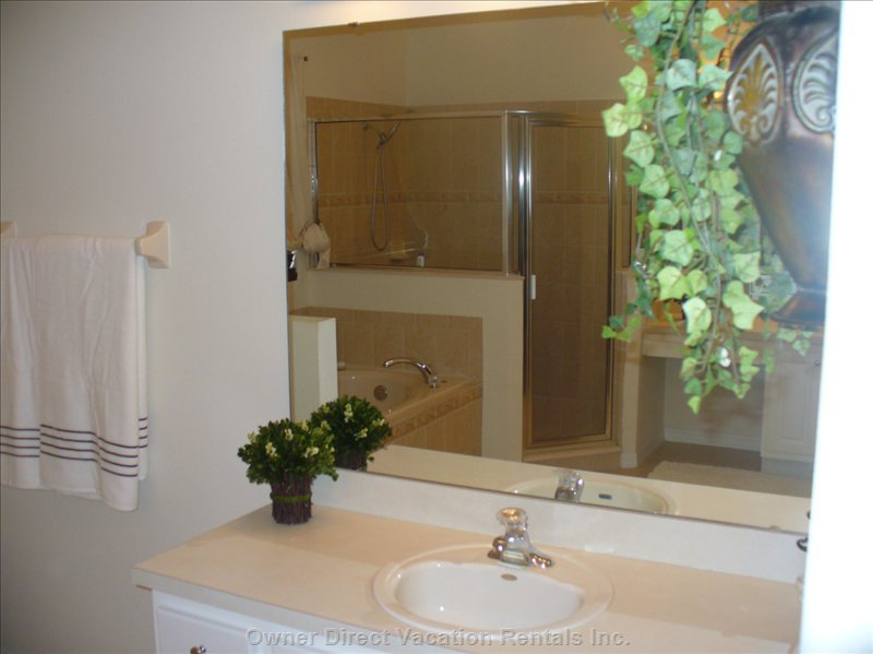 Ensuite  - his and hers Sinks, Separate Shower Stall and Soaker Tub.
