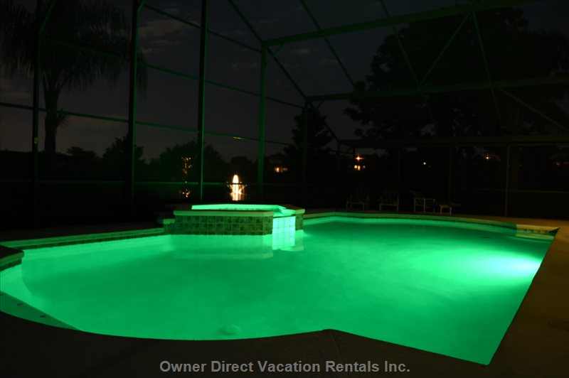 High Tech Led Pool Lightning, White, Blue, Green, Red, Pink, Or Party Mode Changing Colors.