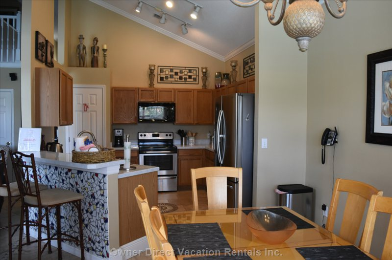 Fully Stocked  Kitchen, Fridge/W Icemaker and Filtered Water, Dishwasher, Stove, Dishes/Pots, Small Appliances, Etc,