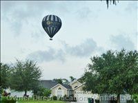 If you Are up Early you May See Baloons Flying Overhead. this Picture Was Taken from our Front Yard before 7am.