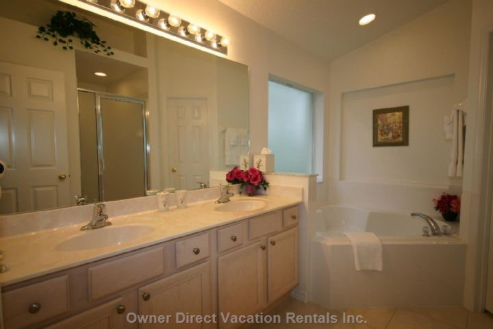 Ensuite to Master Bath with Walk in Closet, Large Bath, Large Shower, Wc